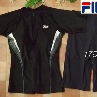 フィラ(FILA)の◆FILAフィラ・袖付・袖ありフィットネス水着・17号LL・切替黒×グレー(水着)