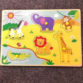 トイザラス(トイザらス)の木製パズル アニマル ペグつき 赤ちゃん おもちゃ(知育玩具)