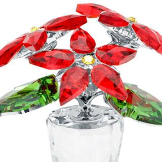 スワロフスキー(SWAROVSKI)のスワロフスキー置物  花 、プレートセット(ガラス)