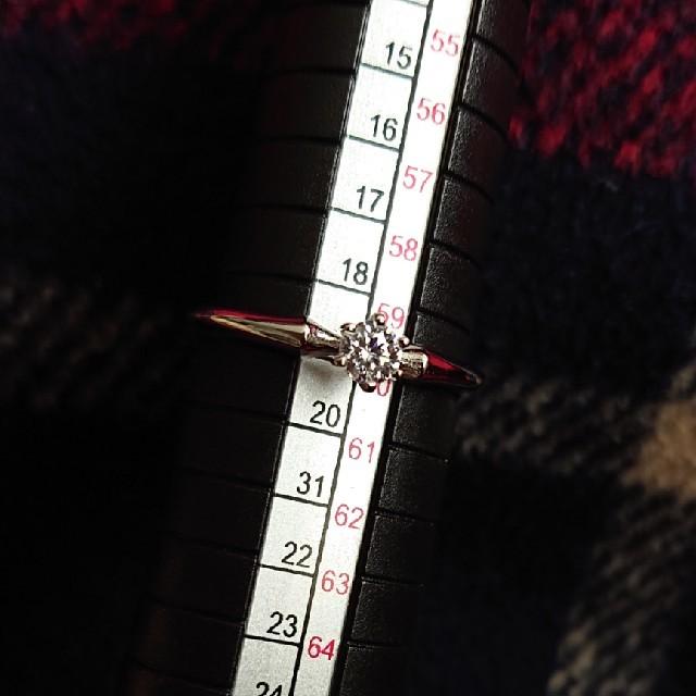 未使用品 s925 シルバー リング ジルコニア 一粒デザイン 19号 レディースのアクセサリー(リング(指輪))の商品写真
