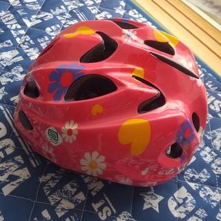 送料無料★美品♪子供用ヘルメット ピンク 女の子用 48~52センチ(自転車)