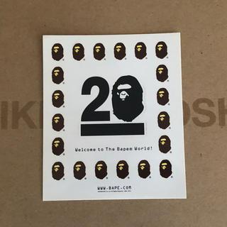 アベイシングエイプ(A BATHING APE)のエイプ ステッカー 20周年記念 ノベルティ 1枚(その他)