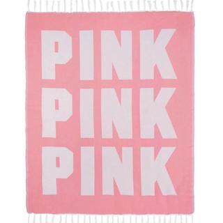 ヴィクトリアズシークレット(Victoria's Secret)の【新品】 ヴィクトリアシークレット ビーチブランケット PINK 海 ビーチ(毛布)