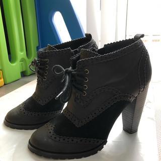 アウラアイラ(AULA AILA)のAULA  AILA アウラアイラ ショートブーツ 黒 (ブーツ)