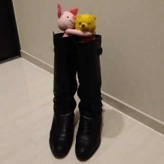 ギンザカネマツ(GINZA Kanematsu)の銀座かねまつ 黒 革 ロングブーツ(ブーツ)