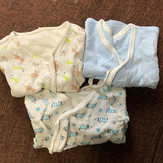 コンビ(combi)の50~60 新生児用 肌着 三枚セット♪(肌着/下着)