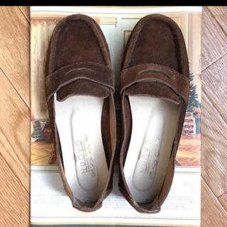 ヌォーボ(Nuovo)のNuovo used 本革スエード ローファーダークブラウン(ローファー/革靴)