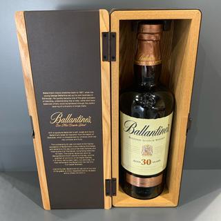 バランタインカシミヤ(BALLANTYNE CASHMERE)のBallantines バランタイン 30年 スコッチ ウイスキー 木箱付き(ウイスキー)