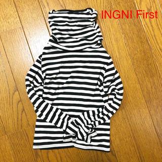 イングファースト(INGNI First)のシャーリングが可愛い ハイネック カットソー(Tシャツ/カットソー)