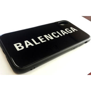 innovative design 60646 7eeb3 BALENCIAGA ガラス Black iPhoneケ–ス5