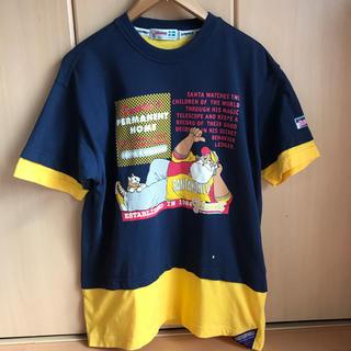 キャプテンサンタ(CAPTAIN SANTA)の90s SANTA WORLD vintage Tシャツ ネイビー イエロー(Tシャツ/カットソー(半袖/袖なし))