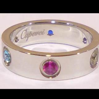 ラブリング マルチストーン 6色 デザインリング カルティエ(リング(指輪))