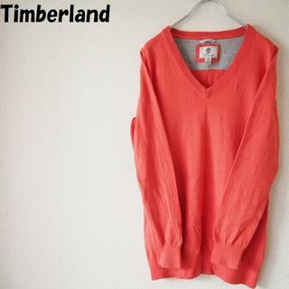 ティンバーランド(Timberland)の【人気】ティンバーランド カシミヤ混Vネックセーター ピンク サイズL(ニット/セーター)