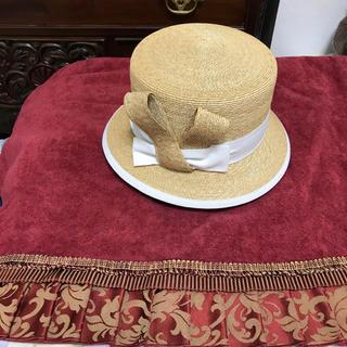 フォクシー(FOXEY)のカサブランカ様フォクシーイタリア製麦藁帽子(麦わら帽子/ストローハット)