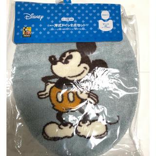 ディズニー(Disney)のミッキー 洋式トイレ フタカバー(トイレマット)