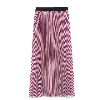 ザラ(ZARA)のZARA マルチカラー プリーツスカート(ひざ丈スカート)