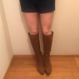 エスペランサ(ESPERANZA)の《着用画像》定価¥18000円 ESPERANZA ロングブーツ ブラウン(ブーツ)