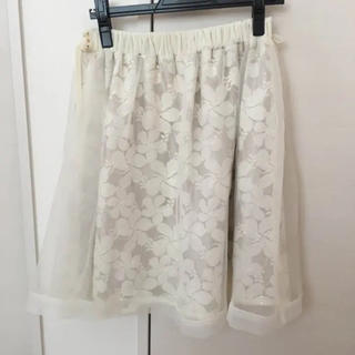 リズリサ(LIZ LISA)のLIZLISA リズリサ オーガンジースカート 花柄(ひざ丈スカート)