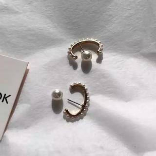 ナノユニバース(nano・universe)のPearl hoop gold earrings No.5(ピアス)