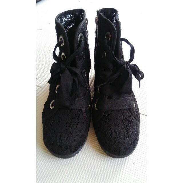 しまむら(シマムラ)のしまむら☺レーススニーカー👟未使用☺🐞けんじさま🙆 レディースの靴/シューズ(スニーカー)の商品写真