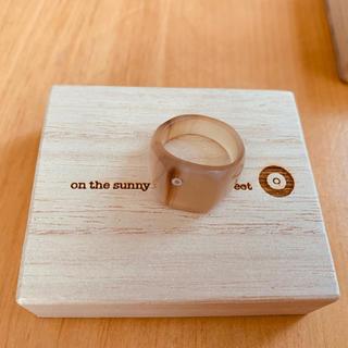 ナノユニバース(nano・universe)の新品 Buffalo Hom Square Ring*新品 Sサイズ (リング(指輪))