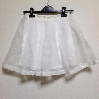 ハニーミーハニー(Honey mi Honey)のhoneymihoney リップ刺繍オーガンジースカートパンツ(ミニスカート)