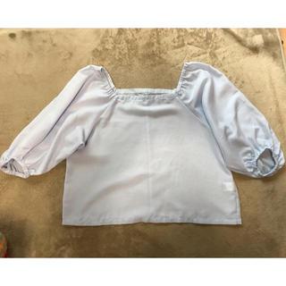 ジーユー(GU)のオフショルトップス(シャツ/ブラウス(半袖/袖なし))