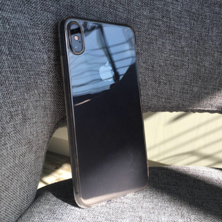 iPhoneケース ガラス クリア 透明ケース iPhonex iPhonexs(iPhoneケース)