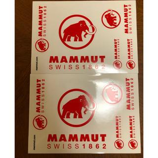 マムート(Mammut)のmammut マムート ステッカー 二枚組 送料込み 最新作(登山用品)