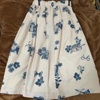 フランシュリッペ(franche lippee)のUSED フランシュリッペ スカート 猫 ピンク 大きいサイズ FL5(ひざ丈スカート)