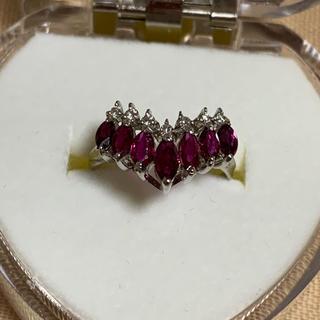 プラチナ900ルビーダイヤリング(リング(指輪))