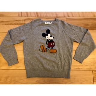 ユニクロ(UNIQLO)のミッキーマウス セーター 140(ニット)