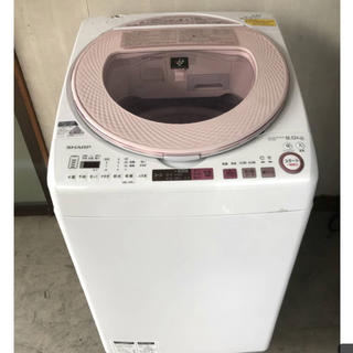 最終値下げ 2017年製 SHARP 洗濯乾燥機 ES-TX8A (洗濯機)