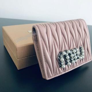 ミュウミュウ(miumiu)の自宅で保存!MIUMIU 二つ折り財布 ピンク(財布)