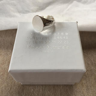 マルタンマルジェラ(Maison Martin Margiela)の18SS新品L マルジェラ オーバル シグネットリング シルバー(リング(指輪))