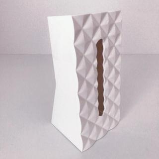 フランフラン(Francfranc)の山崎実業 ティッシュケース 【白】ダイヤモンド(ティッシュボックス)