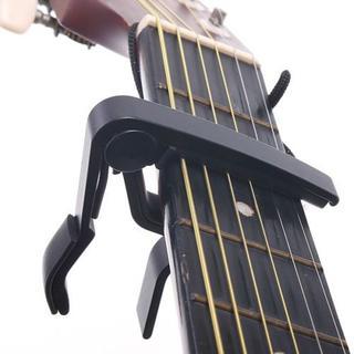 ギター カポ カポタスト ワンタッチ式 合金製 ブラック (アコースティックギター)