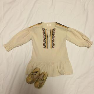 f3449cbd5f2bc コドモビームス(こどもビームス)の韓国子供服 韓国こども服 ワンピース ベージュ ベビー