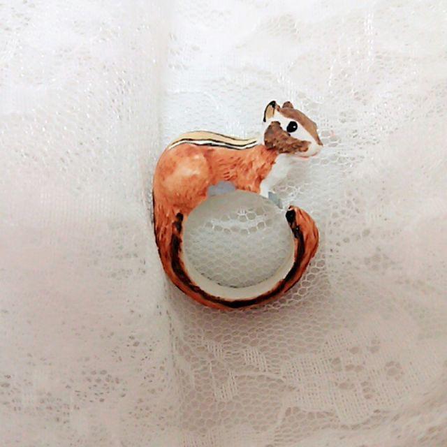 新品◆シマリスのリング レディースのアクセサリー(リング(指輪))の商品写真