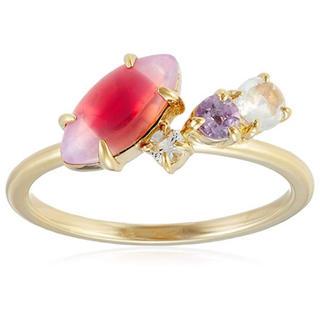 ノジェス(NOJESS)の美品 ノジェス 春 ピンク ピンキー GP シルバー ヴィンテージ ガラス(リング(指輪))