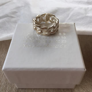 マルタンマルジェラ(Maison Martin Margiela)の18SS新品L マルジェラ シルバー チェーンリング(リング(指輪))