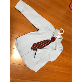 ニシマツヤ(西松屋)のワイシャツ ネクタイ セット 新品 未使用(ドレス/フォーマル)