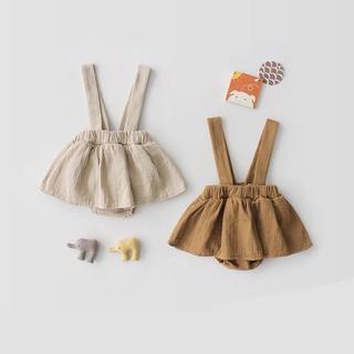 肩紐付き スカート 子供服 女の子 60 70 80(スカート)