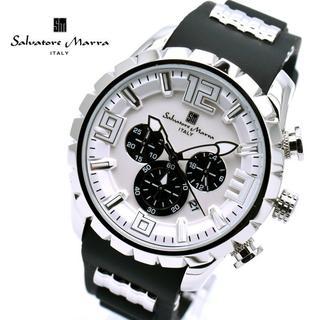 サルバトーレマーラ(Salvatore Marra)のサルバトーレマーラ 腕時計 メンズ クロノグラフ ブランド 時計 白 黒(腕時計(アナログ))
