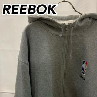 リーボック(Reebok)の【 REEBOK 】ジップ オーバーサイズ パーカー XLサイズ(パーカー)