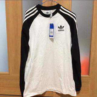 アディダス(adidas)のadidas アディダス アディダスオリジナル ロンt Tシャツ シャツ ライン(Tシャツ/カットソー(七分/長袖))