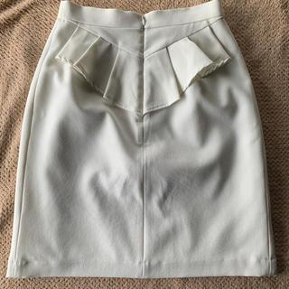 パウダーシュガー(POWDER SUGAR)のパウダーシュガー タイトスカート 白 ホワイト(ひざ丈スカート)