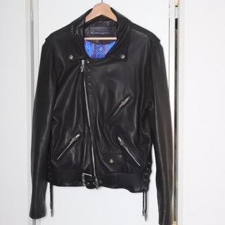 クロムハーツ(Chrome Hearts)のクロムハーツ エルメス CHROME ラム革 ライダースジャケット 美品 正規(ライダースジャケット)