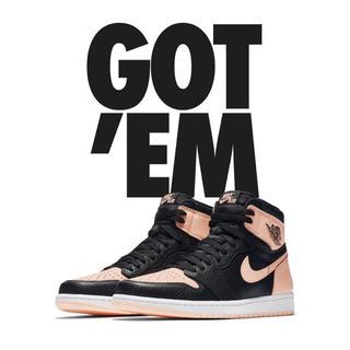 ナイキ(NIKE)の【B.E.Z様専用】Nike Air jordan 1 Black Pink(スニーカー)