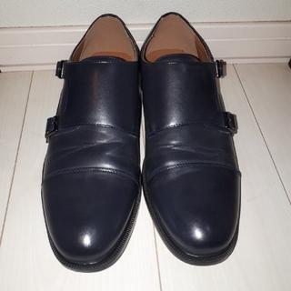 ジーユー(GU)のジーユー (gu) 革靴 ネイビー(ドレス/ビジネス)